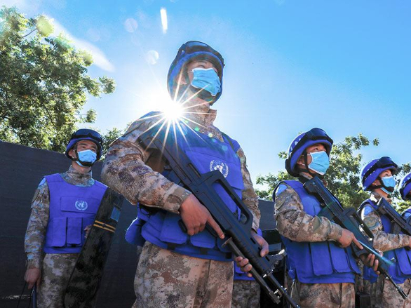 China's 16th peacekeeping force to Sudan organizes the new year's first defense drill