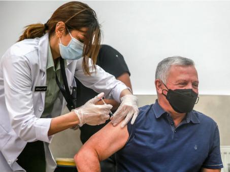 Jordan King receives COVID-19 vaccine