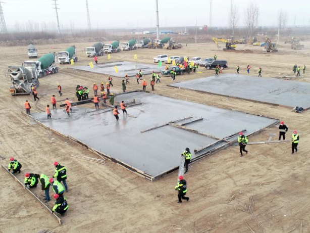 Construction of isolation center in Shijiazhuang