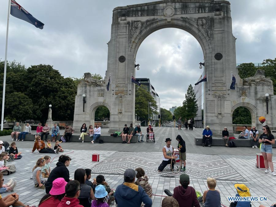 New Zealand's Christchurch opens annual buskers festival