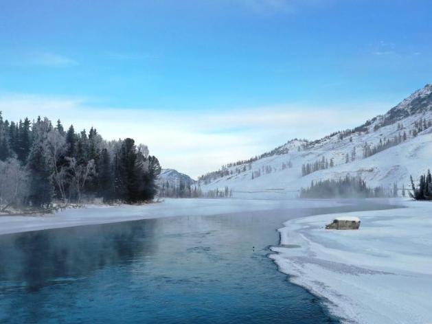 Snow scenery at Kanas scenic area in Xinjiang