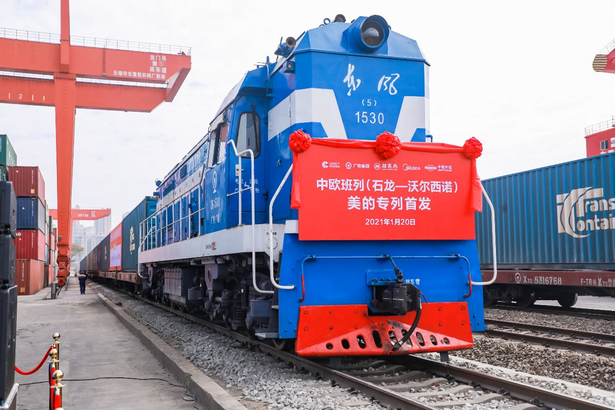 China-Moscow freight train drastically cuts travel time for export run