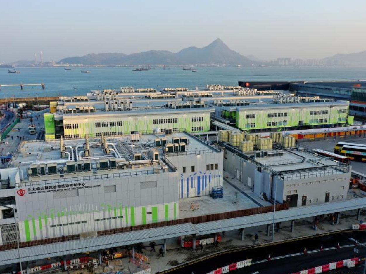 Construction of central gov't-funded temporary hospital for COVID-19 patients completed in Hong Kong