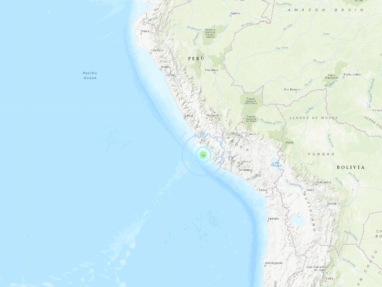 5.5-magnitude quake hits 48 km NW of Minas de Marcona, Peru: USGS