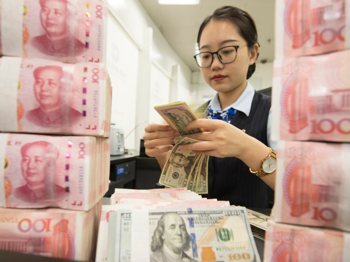 Chinese banks report net forex purchase