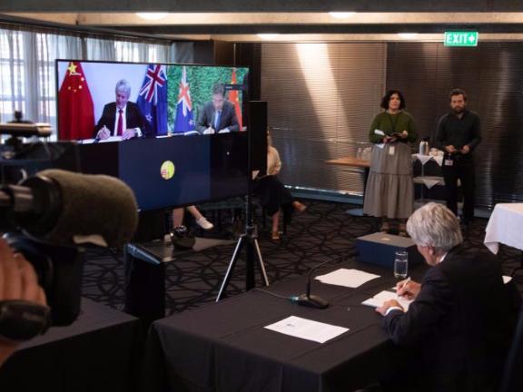China, New Zealand sign free trade deal upgrade protocol