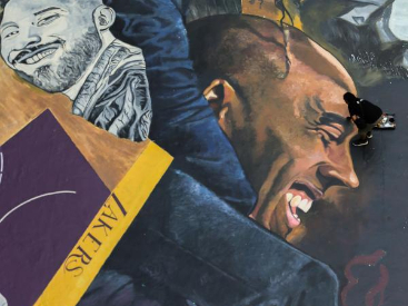 Artists paint giant mural to honor Kobe Bryant and Gianna in Manila