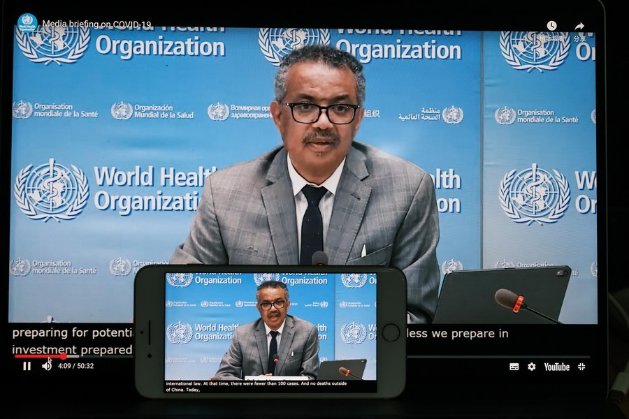 100 mln COVID-19 cases worldwide expected this week: WHO chief