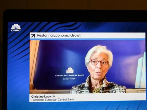 ECB's Lagarde predicts recovery with 'high level of uncertainty' for 2021