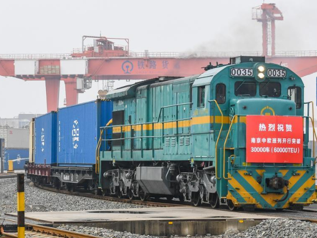 60,000 twenty-foot equivalent unit containers shipped from Nanjing to Europe