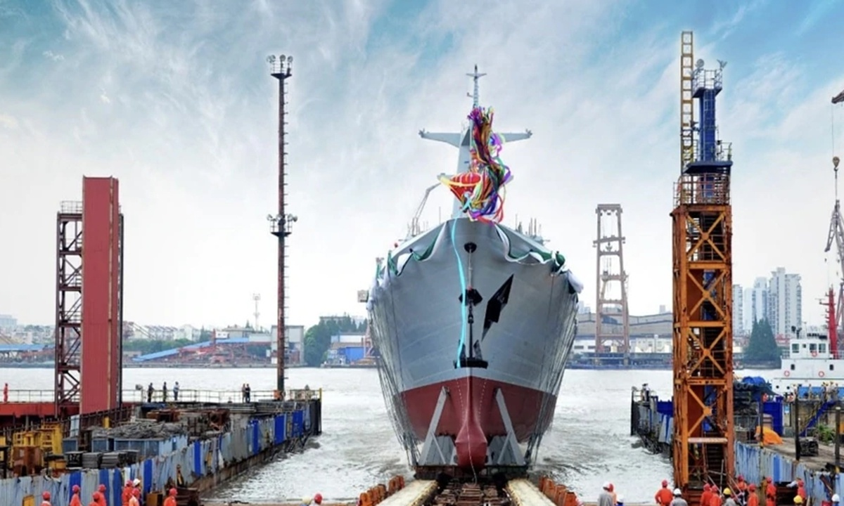 China launches 2nd Type 054A/P frigate for Pakistan