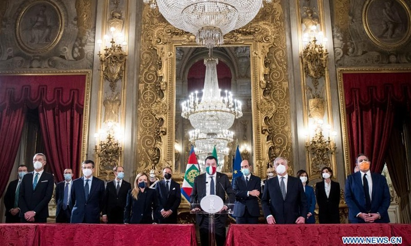 Italy House Speaker given mandate to sound out new gov't majority