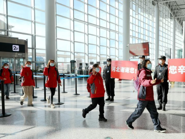 Medics return home after accomplishing missions in Hebei