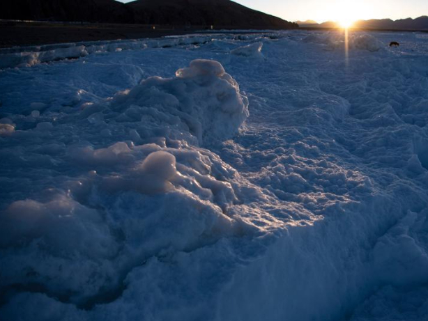 Winter scenery of Nam Co Lake in Tibet