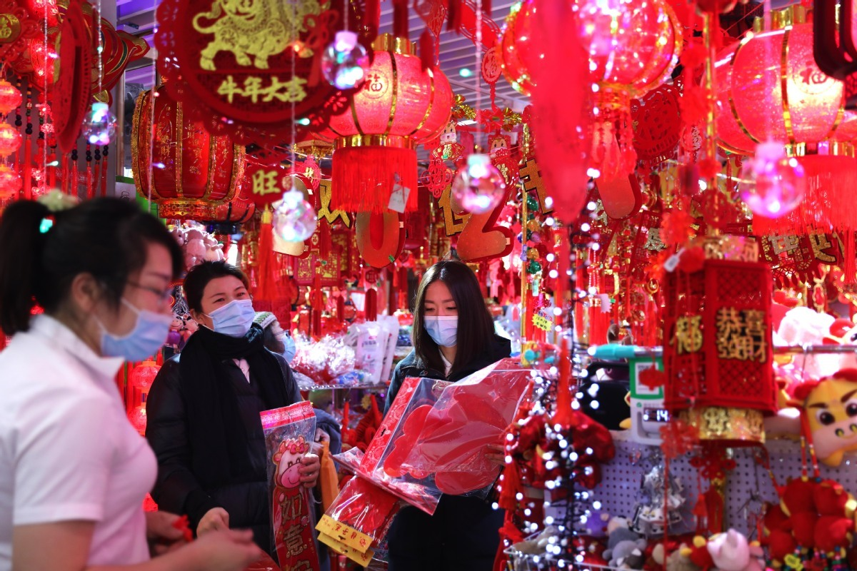Spring Festival decorations all the rage during holiday season
