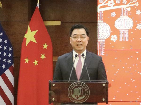 Chinese diplomat in New York offers blessings on Lunar New Year