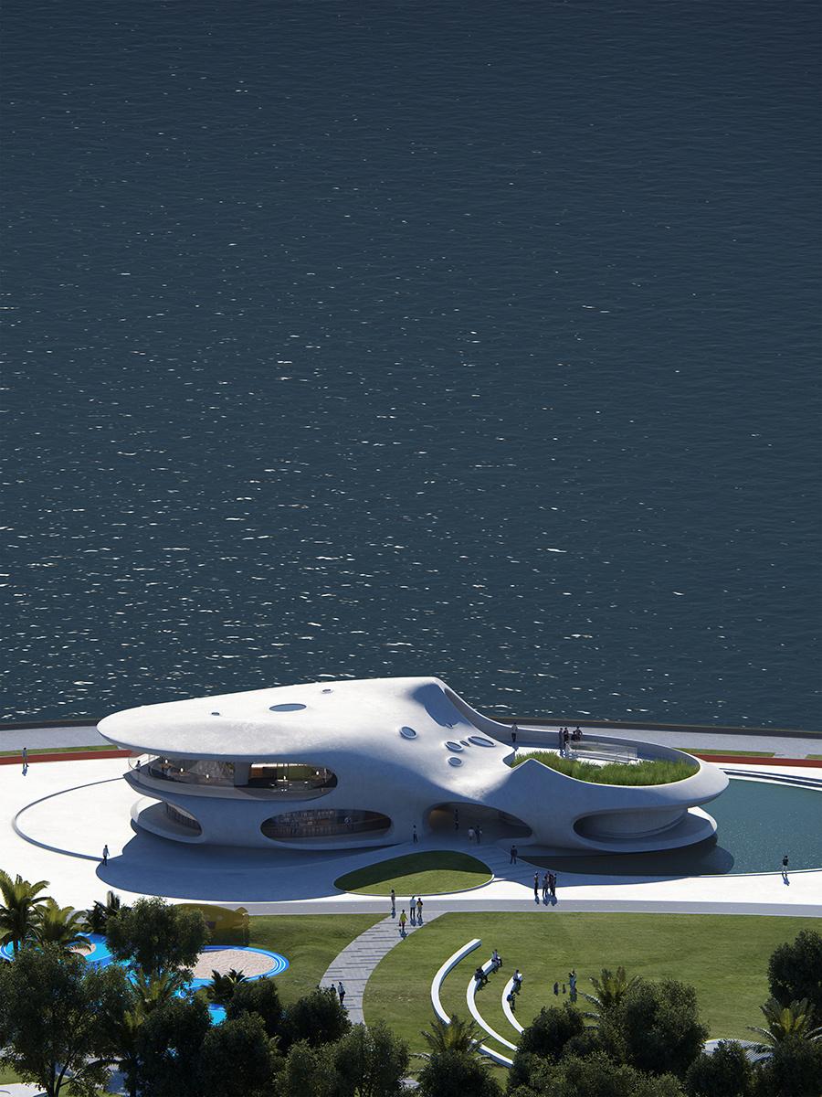 Seaside pavilions to adorn Haikou's coastline