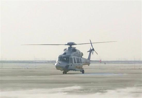 AC352 helicopter completes low-temperature flight test