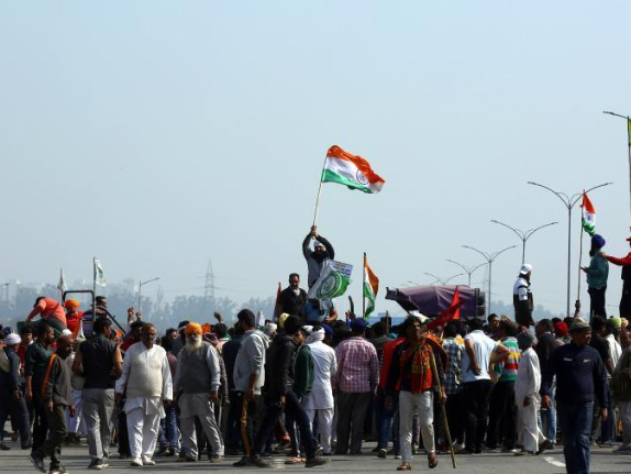Indian authorities beef up security in capital ahead of farmers' call for roadblock