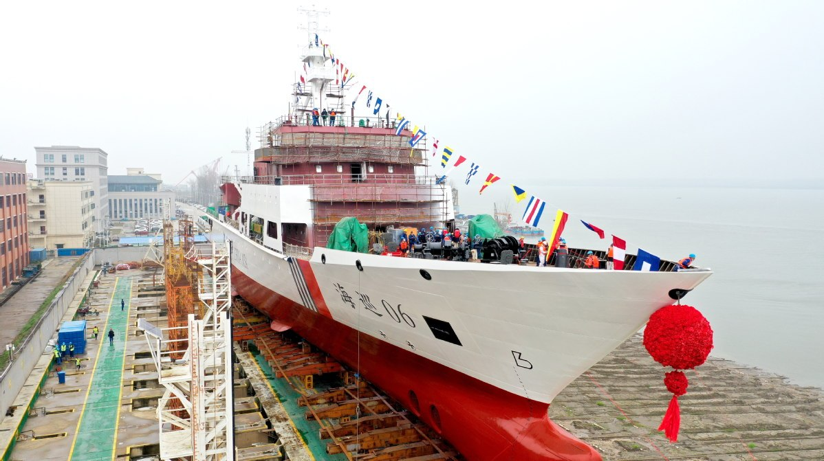 Straits patrol ship launched