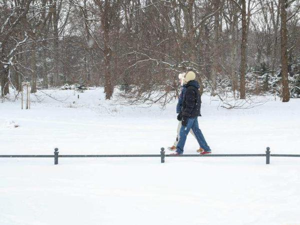 Snow scenery in Berlin