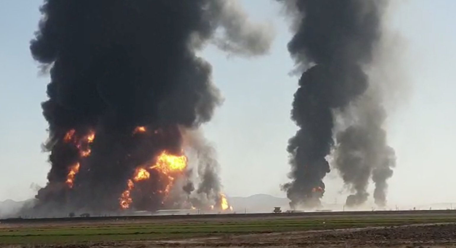 17 injured after oil tankers catch fire on Afghanistan-Iran border