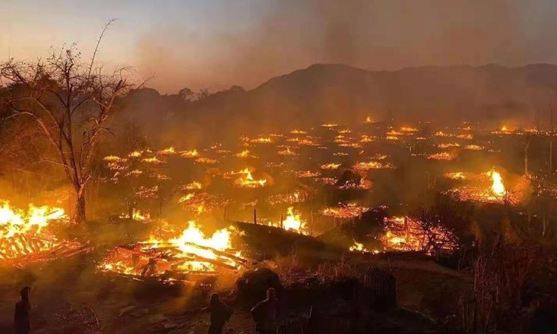 Fire in China's last remaining primitive tribe under control, no casualties reported yet