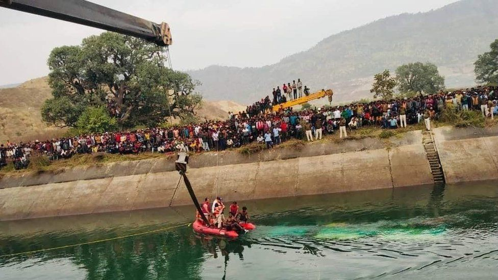 32 killed as passenger bus falls into canal in India