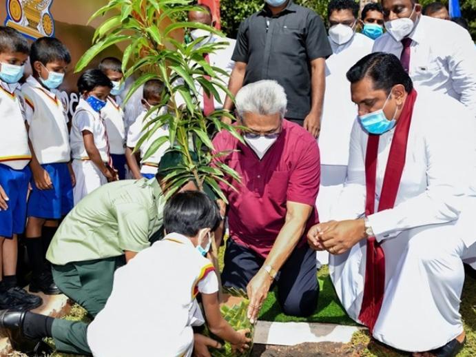 Sri Lankan launches national tree-planting program for children