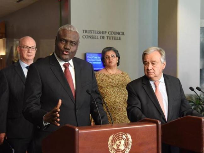 UN, AU chiefs commend Somalia for progress in stabilization efforts