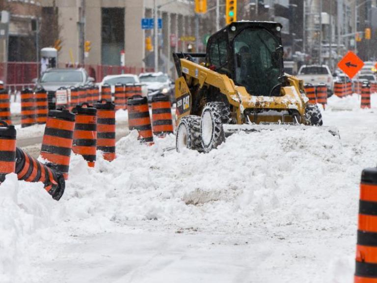 Winter storm hits Toronto, Canada