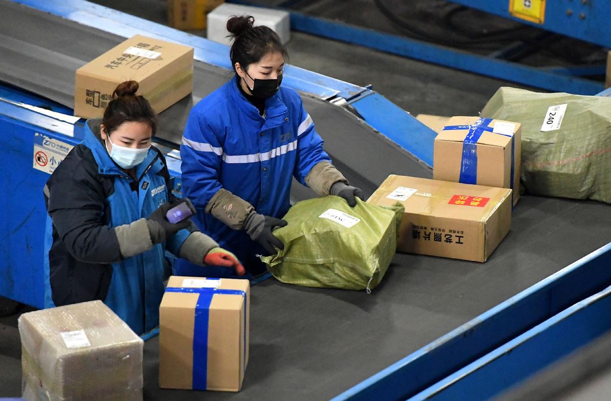 Parcel deliveries see huge jump during Spring Festival