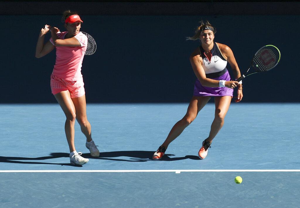 Mertens, Sabalenka win Australian doubles title