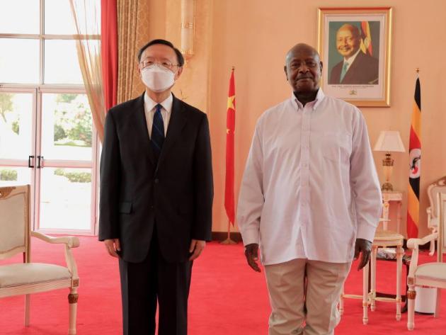 Ugandan president meets with senior Chinese diplomat on bilateral ties