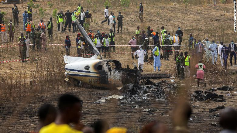 Nigerian military aircraft crash kills seven