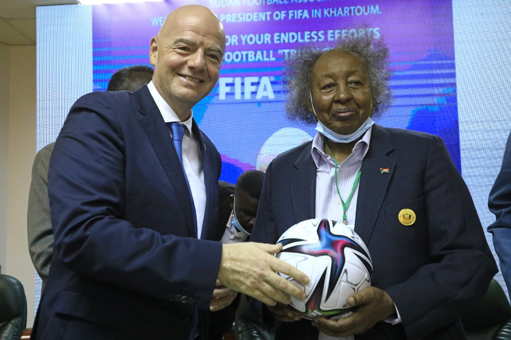 FIFA president vows to support Sudan in football infrastructures