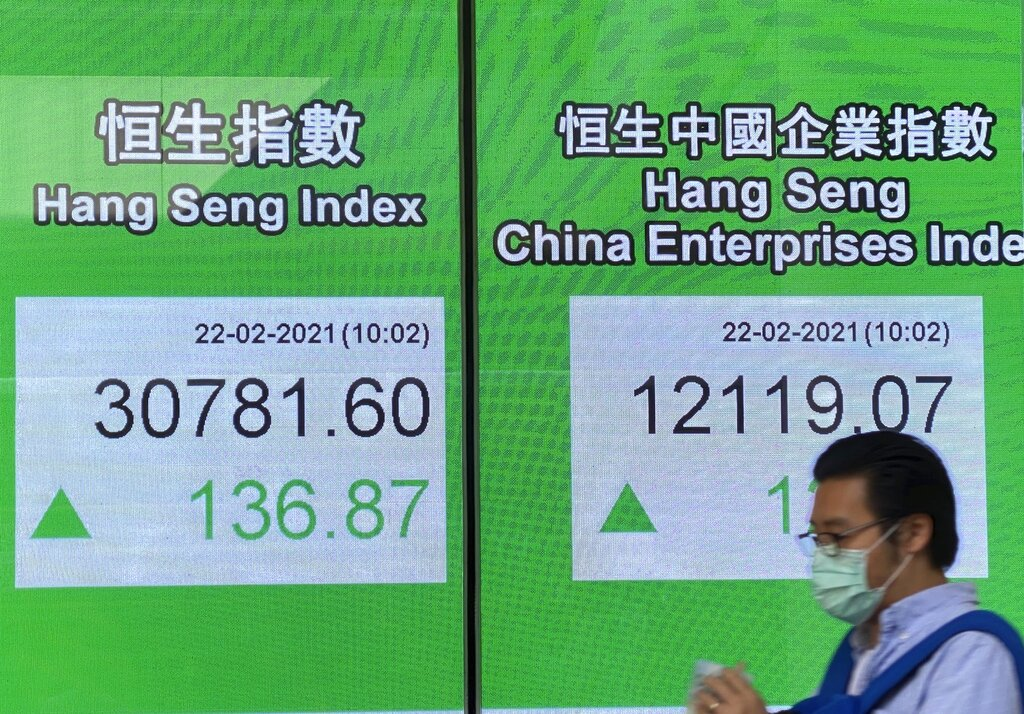 Global shares mostly lower as investors wary over stimulus