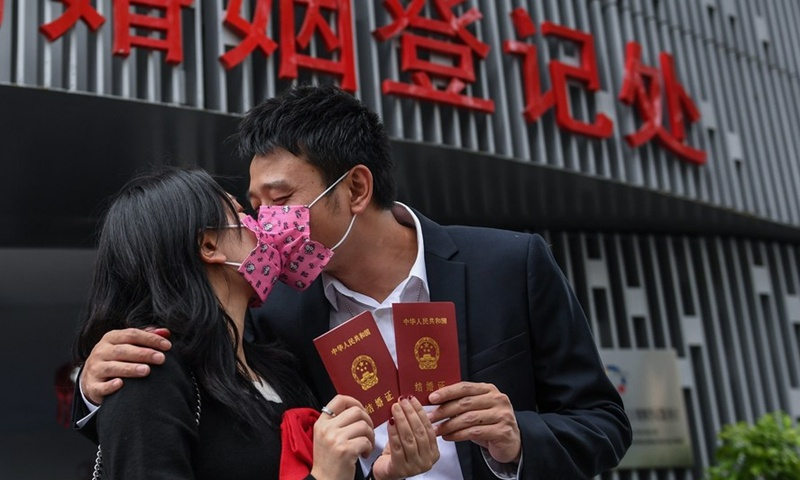 Fewer young Chinese people willing to marry, report finds