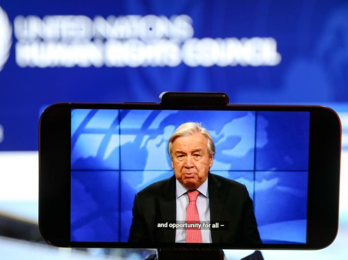 UN chief calls for vaccine equity at UN rights body meeting