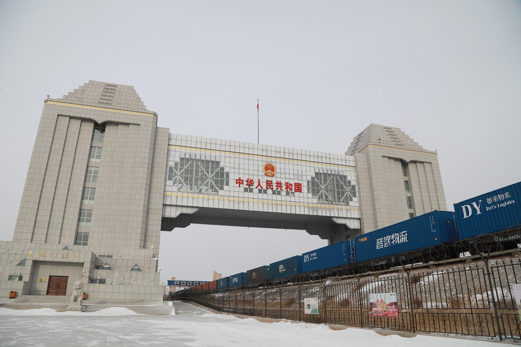 NE China ports bustling with China-Europe freight trains