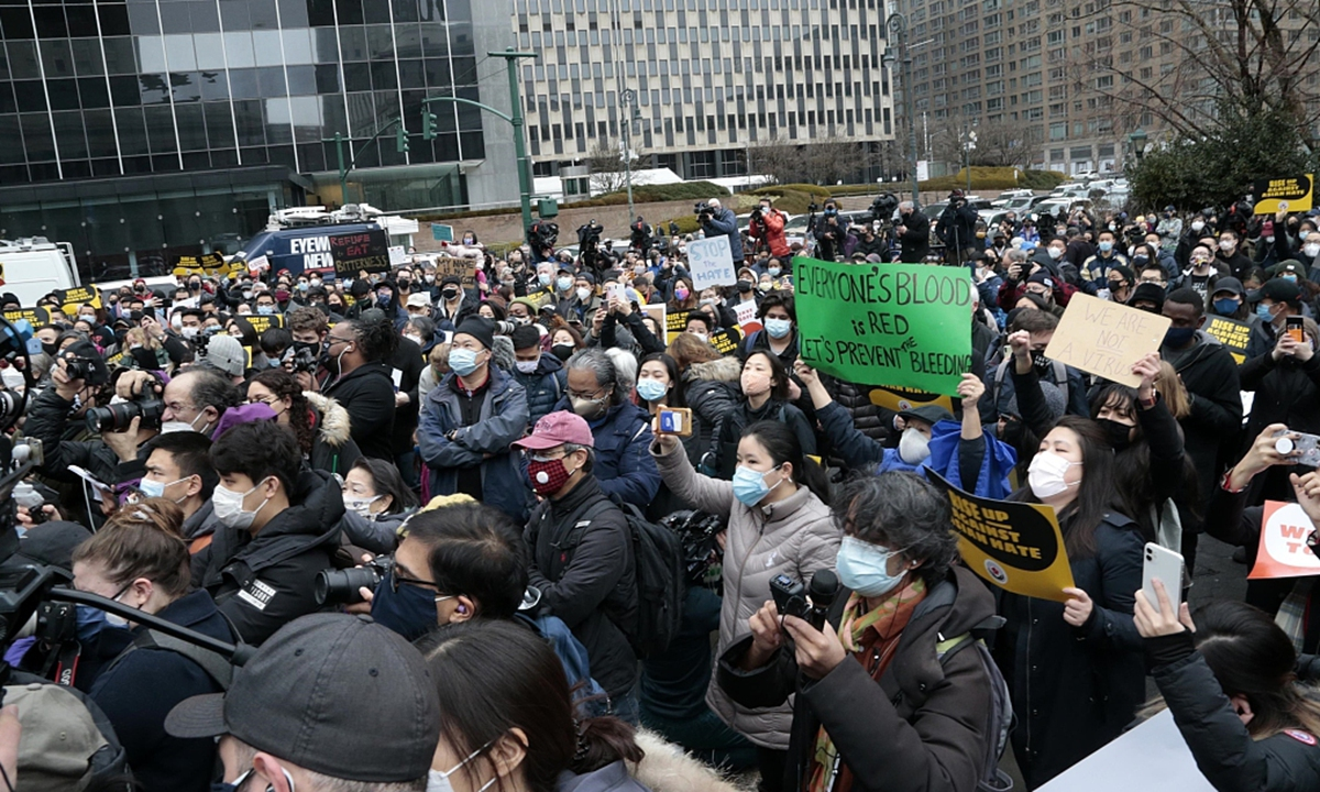 Hundreds in New York rally against anti-Asian hate
