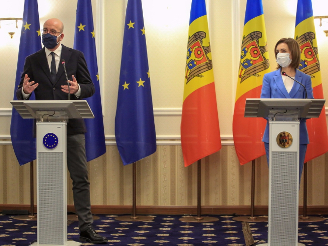 EU supports Moldovan president's reform agenda: European Council chief