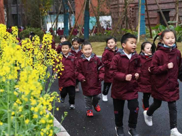 Students return to school for new semester in China
