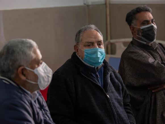 People receive COVID-19 vaccine at primary health centre in Srinagar city