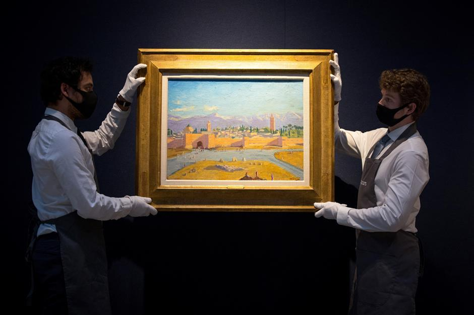 Churchill wartime painting sells for $9.75m