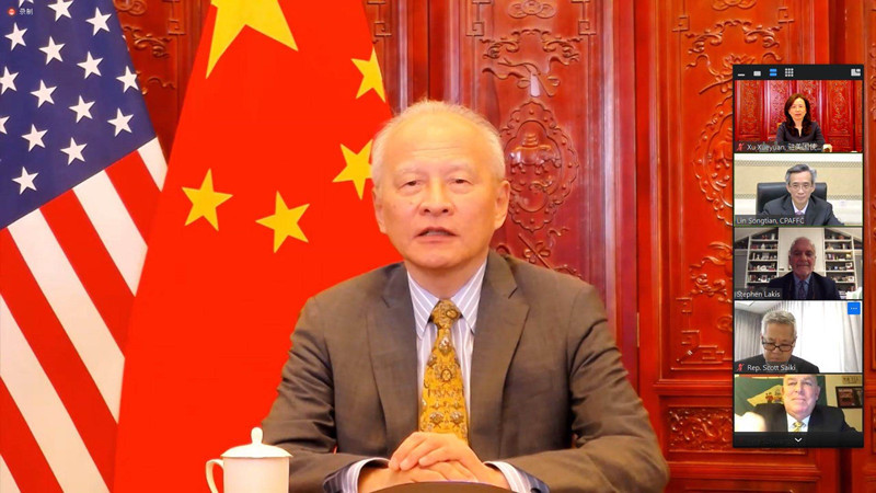 Cooperative, stable China-US ties fit common interests: Cui Tiankai
