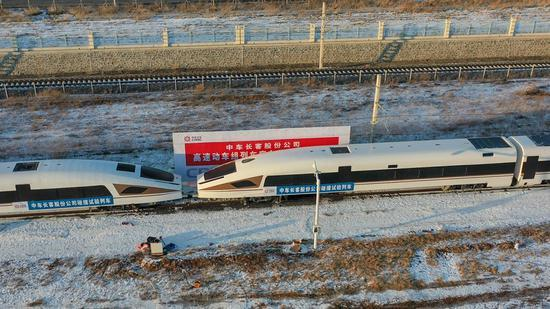 China's first crashworthiness test for high-speed trains completed