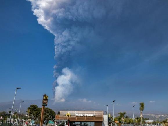 Mount Etna spews ash into sky after eruptions