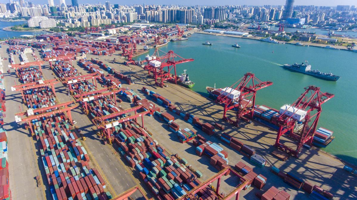 China's major ports report container throughput growth