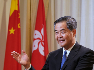 Leung Chun-ying voices firm support for improving HKSAR electoral system